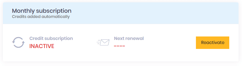 subscription expired